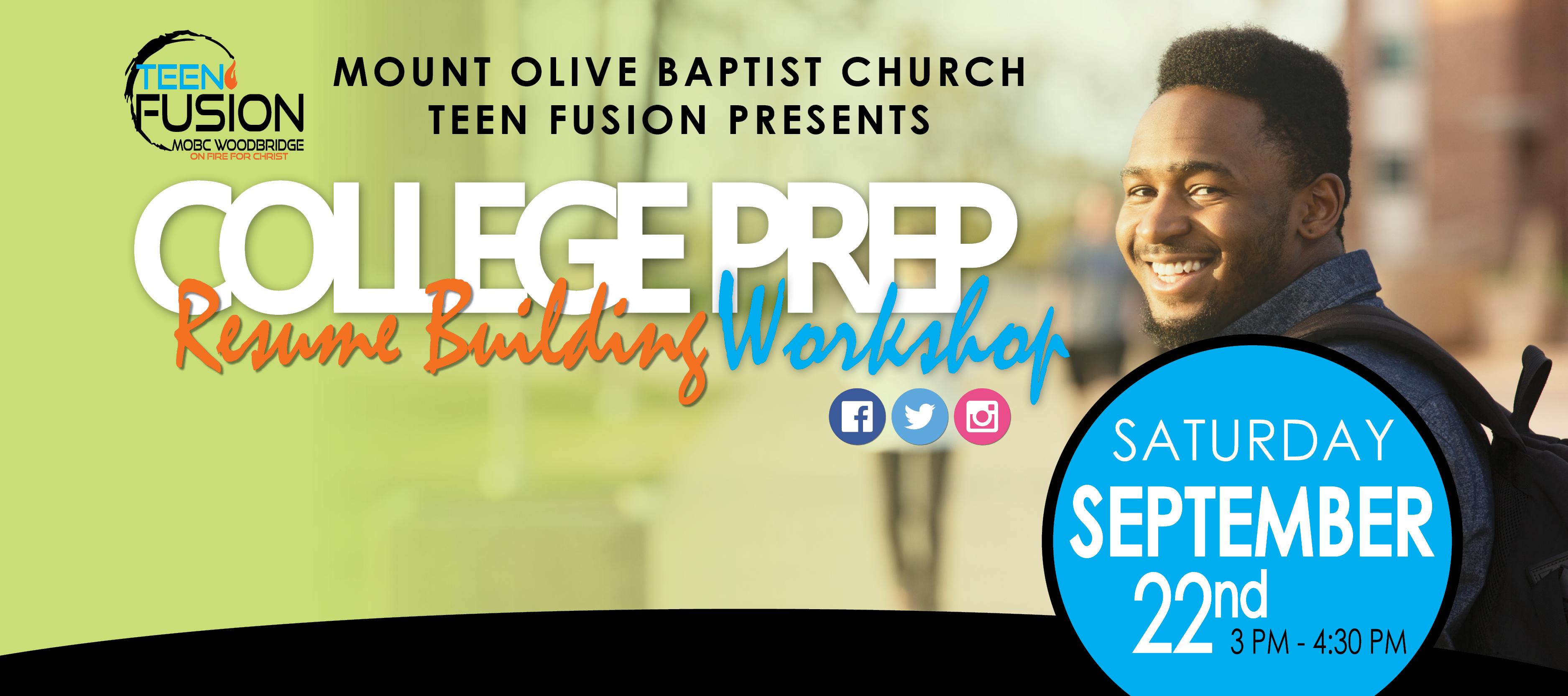 2018 Resume Building Workshop Mount Olive Baptist Church